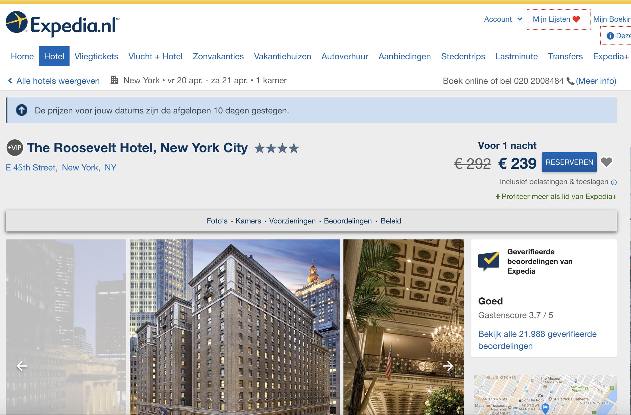 hotel selectie - Expedia
