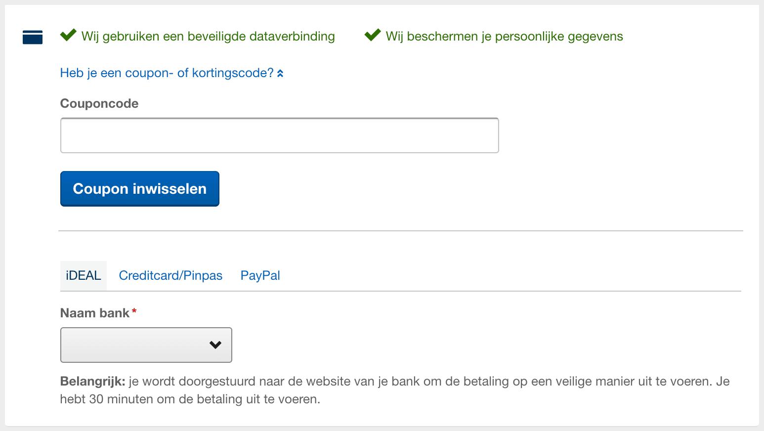 kortingscode invullen - Expedia