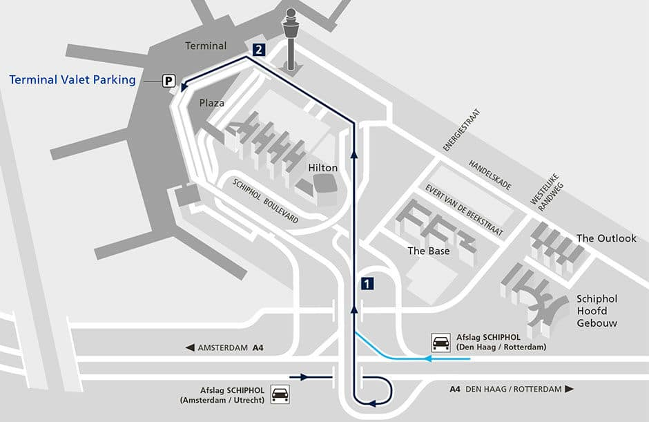 Locatie terminal Valet parking